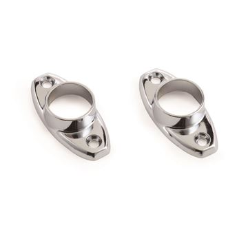 Picture of 19mm Chrome OVAL FLANGES FITTINGS 2PK