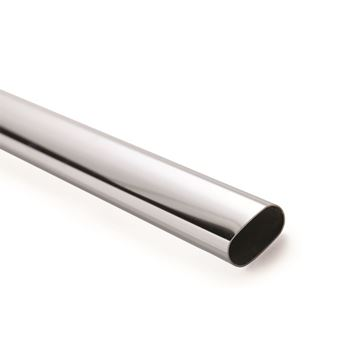 Picture of 15x30mm Oval Chrome Rod 2400mm