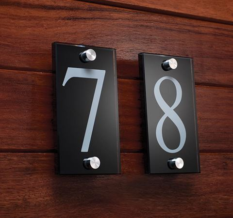 Picture of Black Glass Numeral