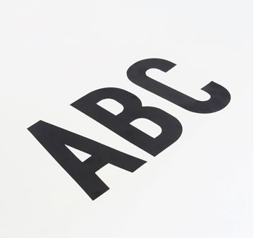 Picture of 85MM CUT OUT LETTER BLACK