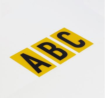 Picture of 60mm Breeze LETTER Yellow