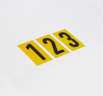 Picture of 60mm Breeze Numeral Yellow