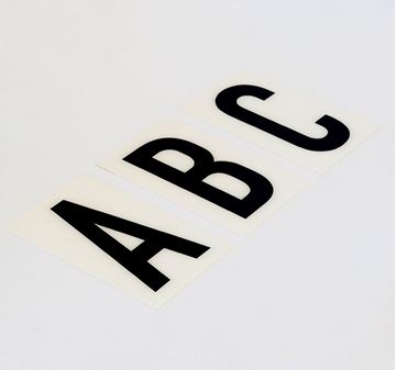 Picture of 85mm Breeze letter White