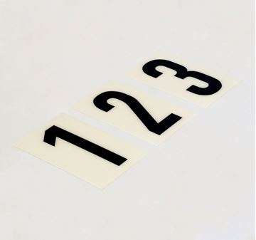 Picture of 85mm Breeze Numeral White
