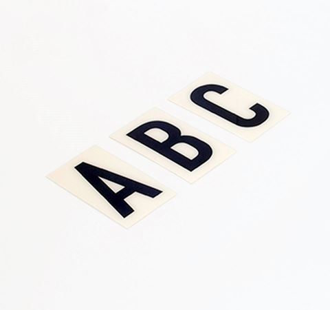 Picture of 60mm Breeze LETTER White