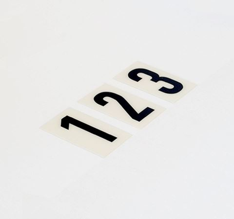 Picture of 60mm Breeze Numeral White