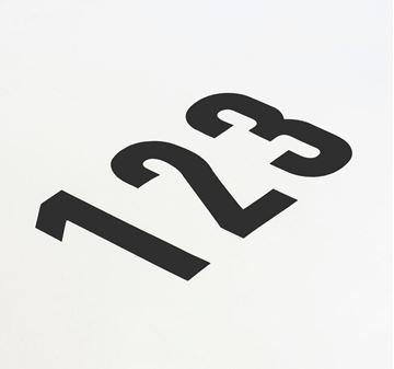 Picture of 85MM CUT OUT NUMERAL BLACK