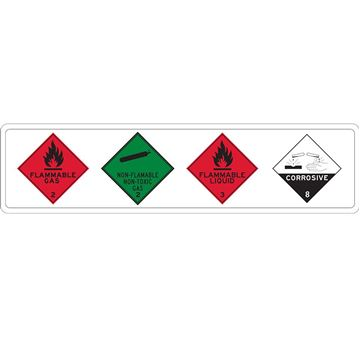 "Picture of Sign 600x150mm ""Dangerous Goods Placards"""