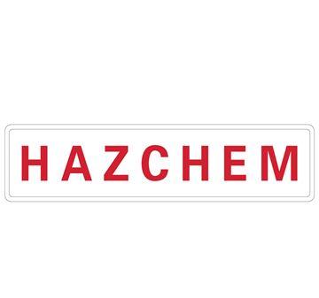 "Picture of Sign 600x150mm ""HAZCHEM"""