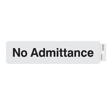 "Picture of 245 x 58 mm ""No Admittance"""