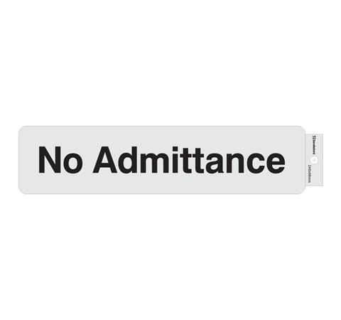 """Picture of 245 x 58 mm """"No Admittance"""""""
