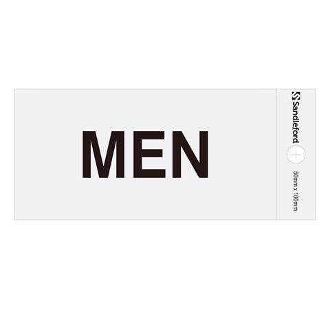"""Picture of 100 x 50 mm """"Men"""""""