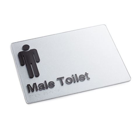 Picture of Braille Sign Male Toilet