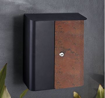 Picture of ##Wall Mount Mailbox Rust/Black