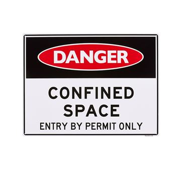 "Picture of Large Sign ""Confined Space. Entry by Permit"""