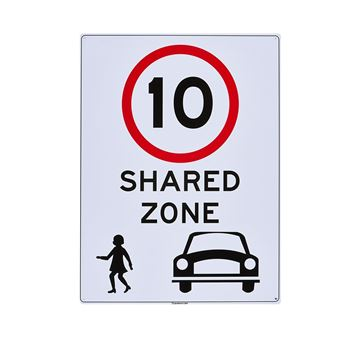 "Picture of Large Sign ""Shared Walk Zone"""