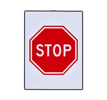 "Picture of Large Sign ""Stop"""