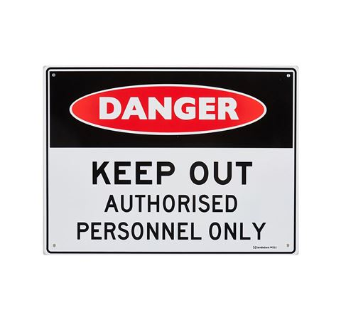 "Picture of Medium Sign ""Keep Out Auth Pers Only"""