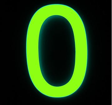 Picture of Glow in the Dark Numeral