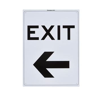 "Picture of Medium Sign ""Exit Left"""