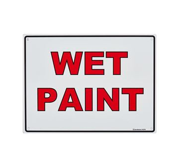 "Picture of Medium Sign ""Wet Paint"""