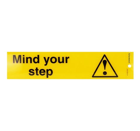 "Picture of 245 x 58 mm ""Mind Your Step"""