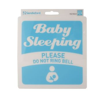 "Picture of 152 x 152 mm ""Do not Ring Bell Baby Sleeping"""
