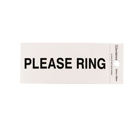 "Picture of 100 x 50 mm ""Please Ring"""