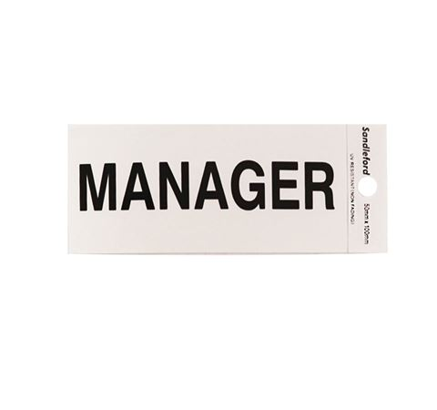 "Picture of 100 x 50 mm ""Manager"""