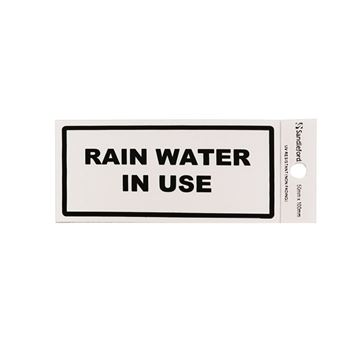 """Picture of 100 x 50 mm """"Rain Water in use"""""""