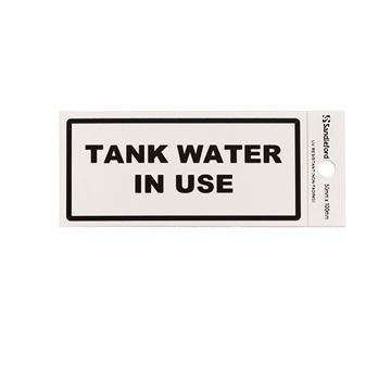 "Picture of 100 x 50 mm ""Tank Water in Use"""