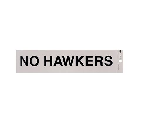 "Picture of 245 x 58 mm ""No Hawkers"""
