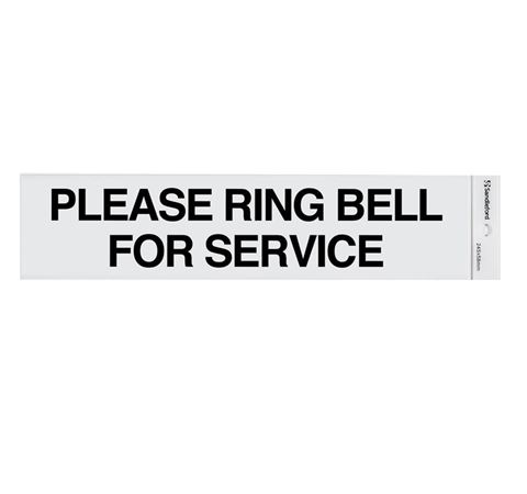 "Picture of 245 x 58 mm ""Please Ring Bell for Service"""