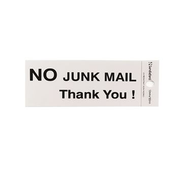 "Picture of 100 x 50 mm ""No Junk Mail Thank You!"""