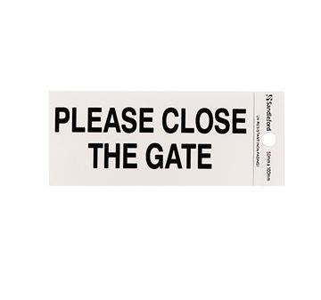 "Picture of 100 x 50 mm ""Please Close the Gate"""