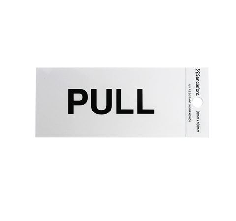 """Picture of 100 x 50 mm """"Pull"""""""