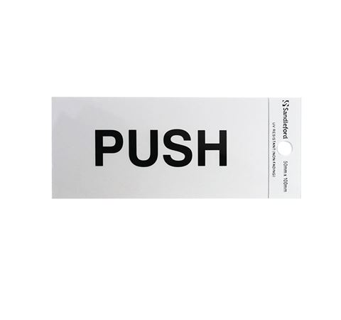 "Picture of 100 x 50 mm ""Push"""