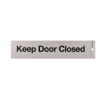 "Picture of 245 x 58 mm ""Keep Door Closed"""