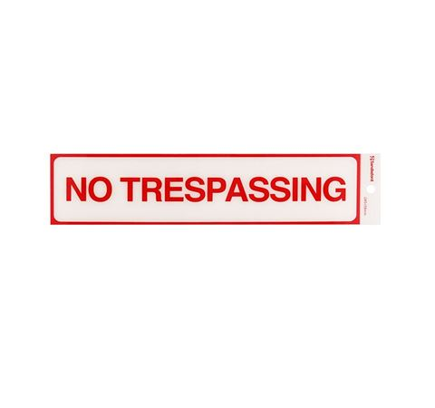 """Picture of 245 x 58 mm """"No Trespassing"""""""
