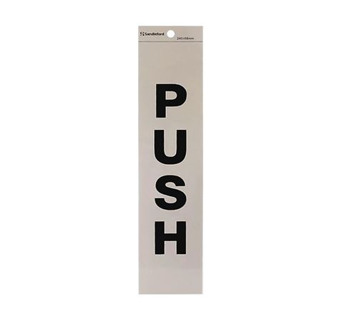 "Picture of 245 x 58 mm ""Push"""