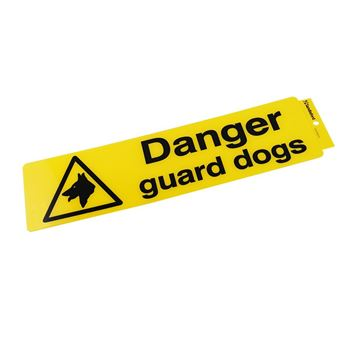 "Picture of 330 x 95 mm ""Danger Guard Dogs"""