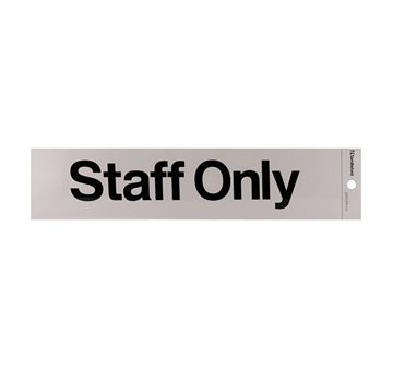 "Picture of 245 x 58 mm ""Staff Only"""