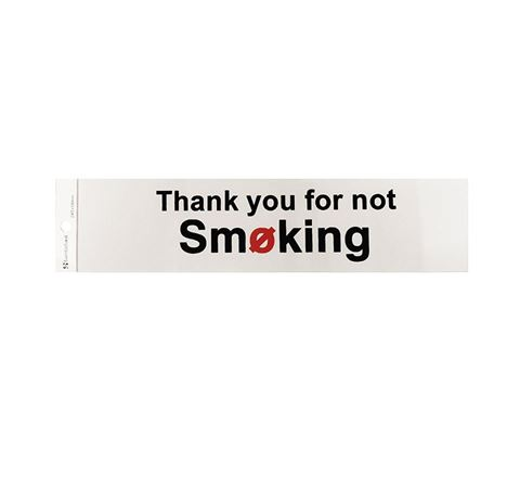 "Picture of 245 x 58 mm ""Thank You For Not Smoking"""