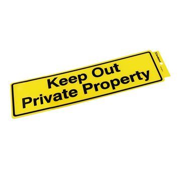 "Picture of 330 x 95 mm ""Keep Out Private Property"""