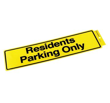 "Picture of 330 x 95 mm ""Residents Parking Only"""