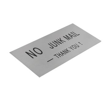 "Picture of ""No Junk Mail"" Stainless Steel"