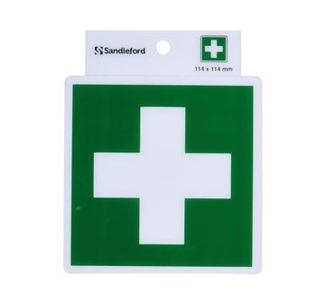 Picture of FIRST AID S/ADHESIVE SIGN 114 x 114mm
