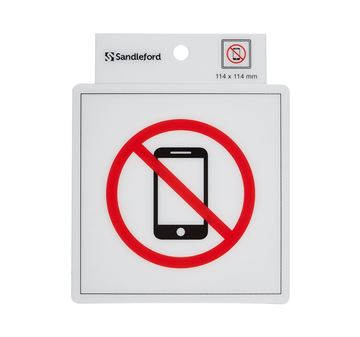 Picture of NO MOBILE S/ADHESIVE SIGN 114 x 114mm