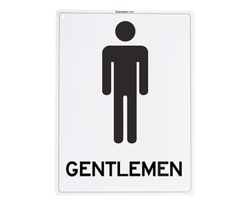 "Picture of Medium Sign ""Gentlemen"""