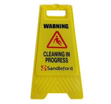 Picture of Cleaning In Progress Sign Yellow